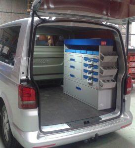 Inrichting bedrijfswagen